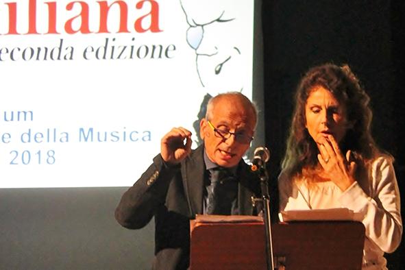Gli attori Martina Carpi e Vittorio Viviani