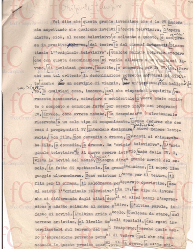 Appunti/Manoscritti/Dattiloscritti